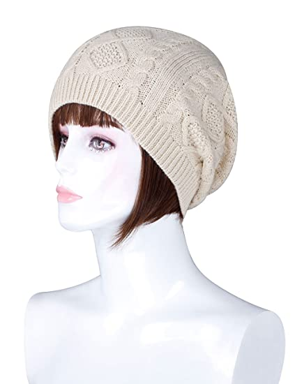 5fb5808d226 ADAMARIS Beanie For Women Pom Pom Warm Winter Knit Hats Beanies Women  Slouch
