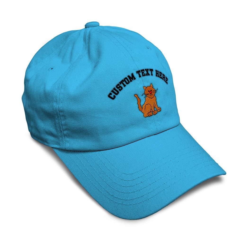 Custom Soft Baseball Cap Cat Doll Embroidery Dad Hats for Men /& Women