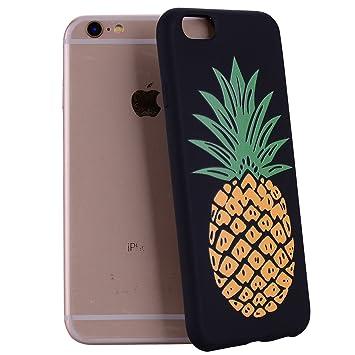 Yunbaozi Funda Compatible para iPhone 6 Embossing Case Carcasa Suave Impresión 3D Caucho TPU Flexible Cáscara Delgado Ligero Alivio Negro Carcasa ...