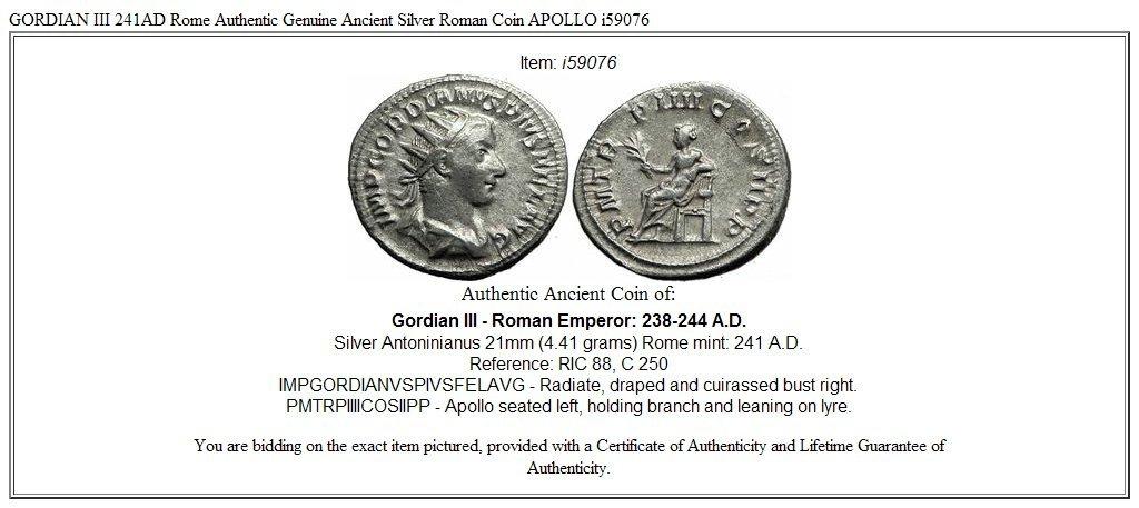 Ancient Coins Intelligent Roman Coin Silver Antoninianus Gordian Iii 238-244 Ad