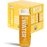 JUST Water Infused - Lemon Flavored Spring Water - Eco-Friendly and Sustainable, Boxed Bottled Water - Low Calorie Beverage w