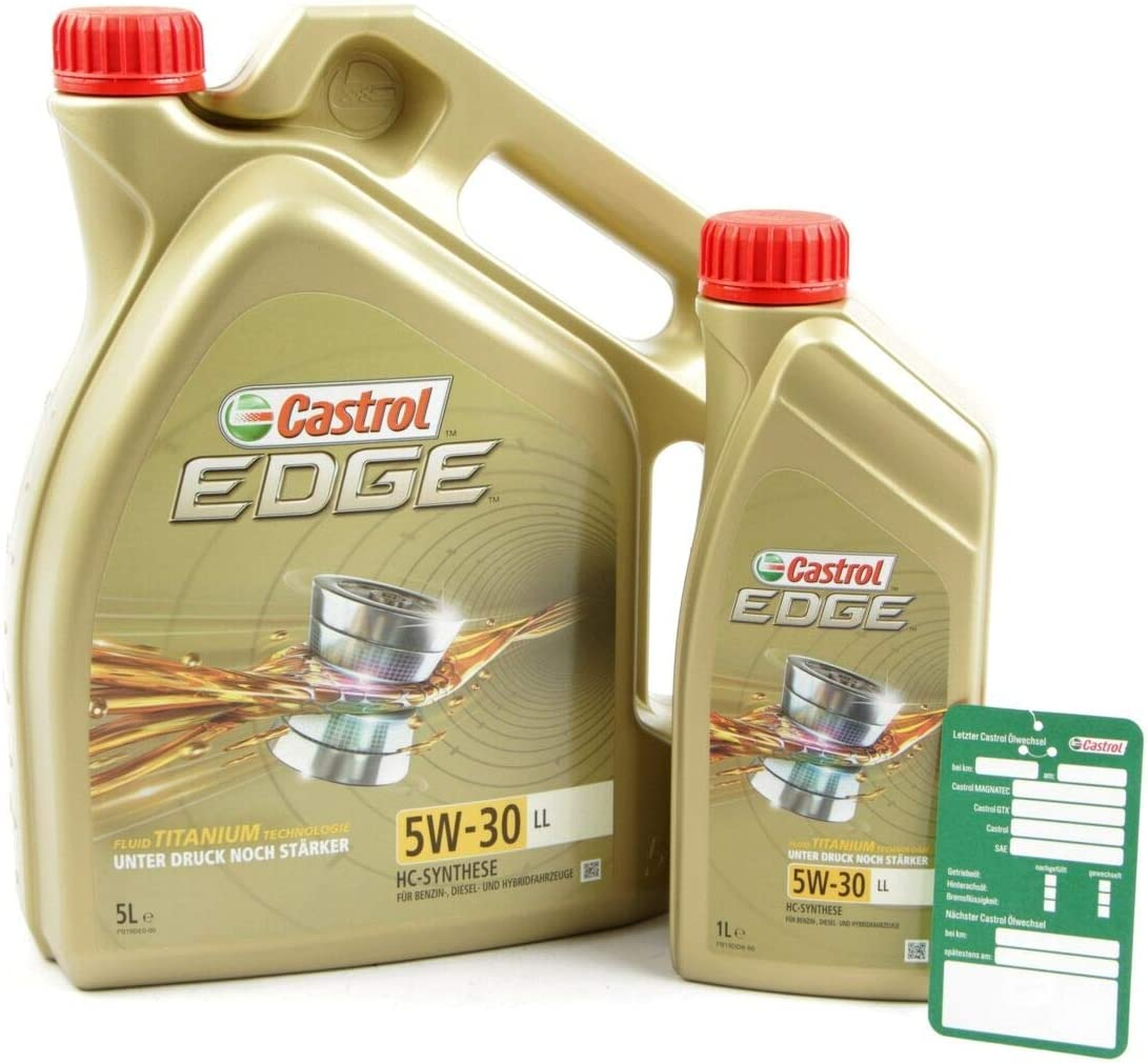 1 L 5 L 6 Liter Castrol Edge Fluid Titanium 5w 30 Ll Motoröl Inkl Castrol Ölwechselanhänger Auto