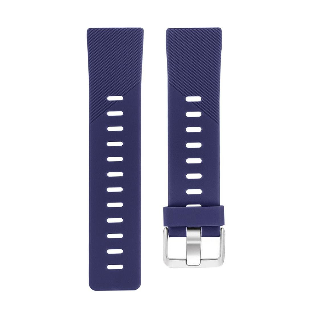Lovewe Replacement Fashion Sports Twill Silicone Bracelet Strap Band For Fitbit Versa 228mm (Blue)