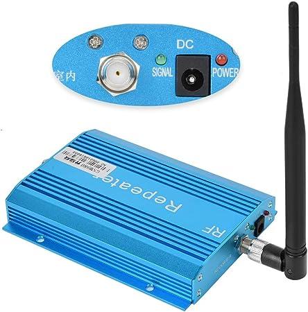 Amplificador de señal de teléfono celular con antena direccional de alta ganancia de cabeza F, para hasta 100-800 m² interiores, amplificador ...