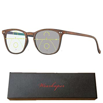8eb93badf450 WEARKAPER Transition Sun glasses Photochromic Progressive Reading Glasses  Men Women Presbyopia Eyewear (2.50X,