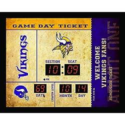 Team Sports America Bluetooth Scoreboard Wall Clock Minnesota Vikings, Team Color, 23