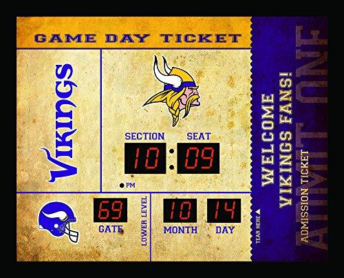 Bluetooth Scoreboard Wall Clock Minnesota Vikings, Team Color, 23 ()