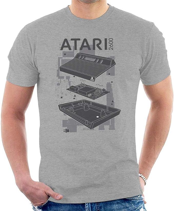 Atari 2600 Schematics Tee Shirt, Grey