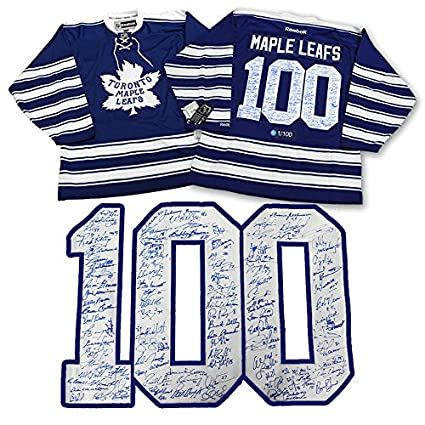 finest selection 9a959 790c7 Toronto Maple Leafs Centennial 100 Player Autographed Hockey ...