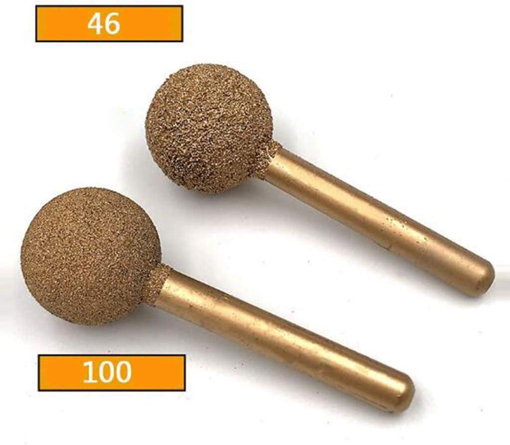 20mm 46 grains Homyl Pointe /à diamant Fraise /à boule ronde Meulage Foret pour d/éfonceuses