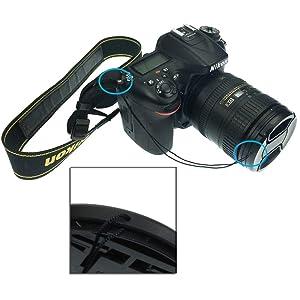 SIOTI 55mm Lens Cap with 2picecs Caps+ Cap Clip + Cleaning Wiper for Nikon/Canon/Sony/Fuji/Leica/Tamron/Pentax/Panasonic/Olympus etc.Camera Lens (Color: 1 Single, Tamaño: 55mm)