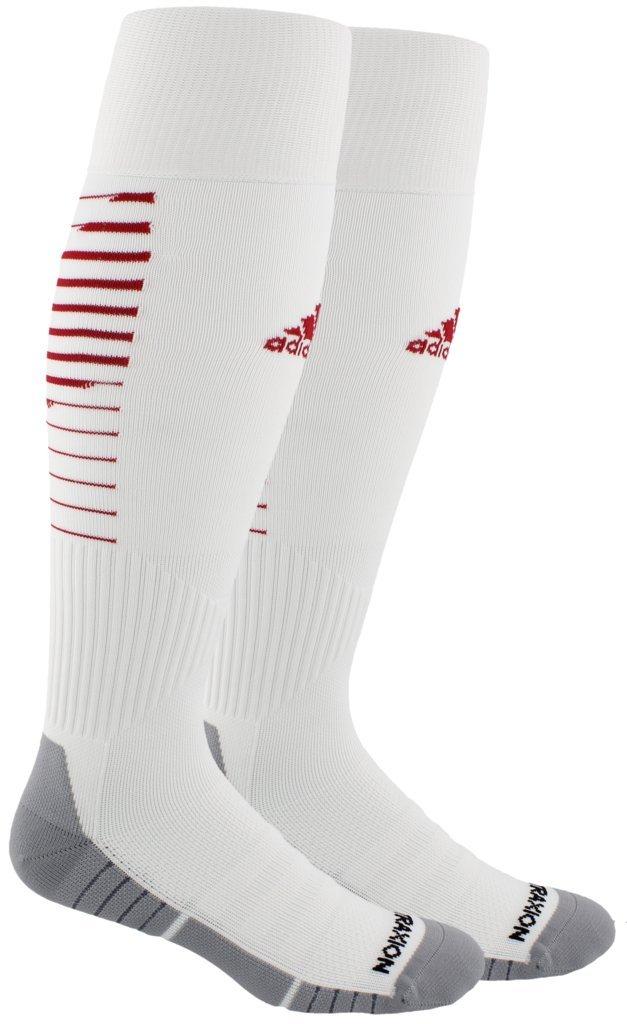 adidas Unisex Team Speed II Soccer Socks, (1-Pair), White/Power Red/Light Onix, 5-8.5 by adidas