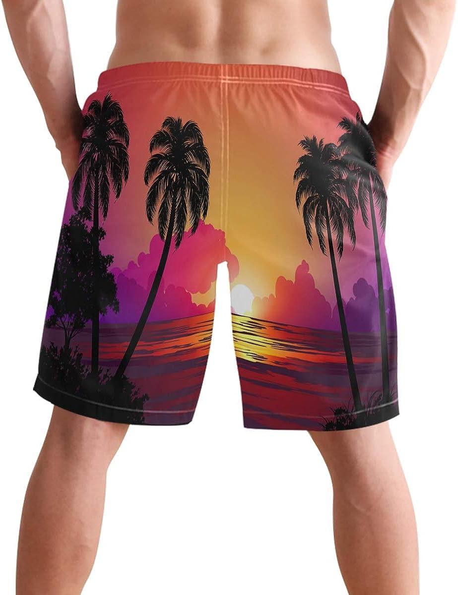 Mens BeachGrass Scenery Beach Cargo Pockets Shorts, Beach Shorts