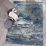 Safavieh Evoke Collection EVK272A Distressed Modern Abstract Navy and Ivory Area Rug (10′ x 14′) Review