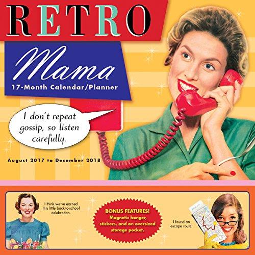 Retro Mama 2018 Wall Planner Calendar