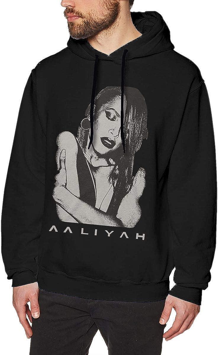 Wujing Mens Aaliyah Long Sleeve Hooded Sweat Shirt Pullover