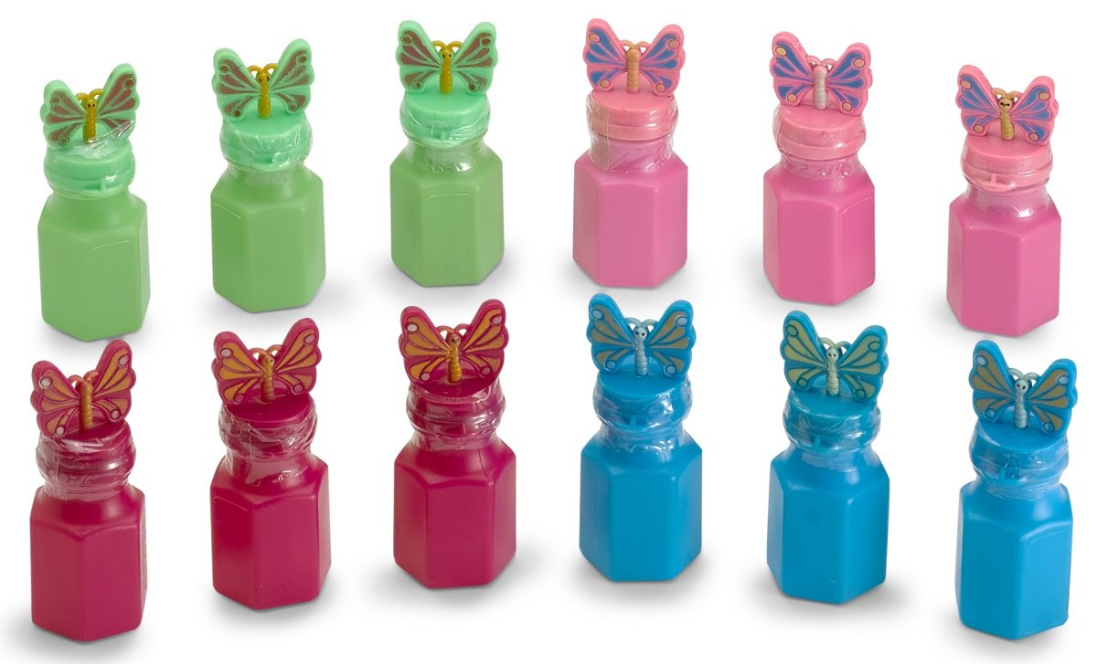 By Kidsco Kayco USA Bottles Are 3 Inches Prize 12 Pack Butterfly Bubble Bottles 0.6 Ounce Girls Party Bags Assorted Colors Great For Kids Boys Gift