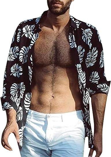 Poachers Camisas Hombre Verano Flores Camisetas Hombre Originales 3D Camisas de Hombre Estampadas Camisas Hawaianas Hombre feas Camisas Hombre Manga Larga Fiesta: Amazon.es: Ropa y accesorios