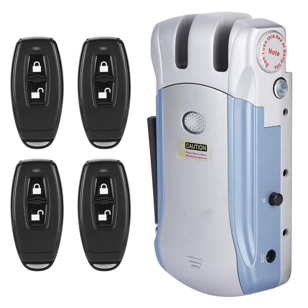 Bloqueo electronico inalambrico Estabilidad de la se/ñal Bloqueo de control remoto invisible sin llave Antirrobo inteligente