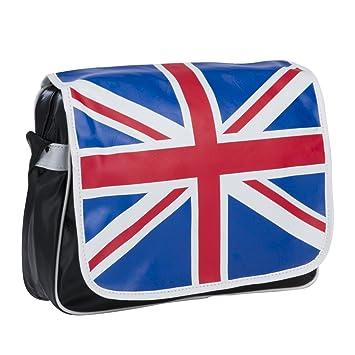 Sac bandoulière réglable motif drapeau Anglais poche intérieure et  extérieure à zip cf9050436e1
