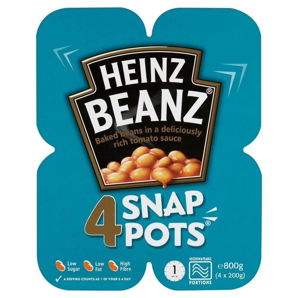 Heinz Baked Beanz in Tomato Sauce Snap Pots (4x200g)