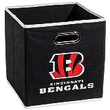 Franklin Sports Cincinnati Bengals Collapsible Storage Bin – NFL Folding Cube Storage Container – Fits Bin Organizers – Fabric NFL Team Storage Cubes