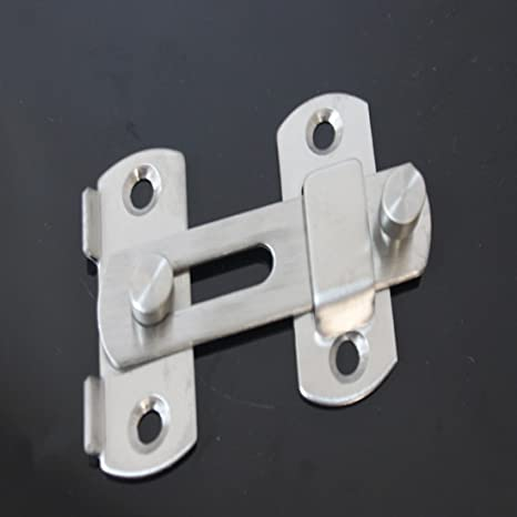 Pestillo con traba de acero inoxidable para puerta corredera, ventana o armario, accesorio: Amazon.es: Hogar