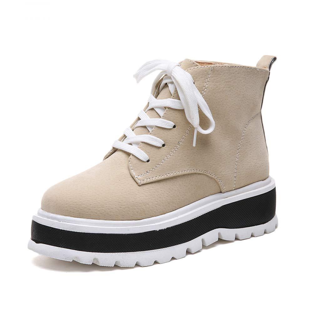 GUNAINDMX Frauen-Ebene-Schuh-Plattform-Turnschuh-Schuh-Leder-beiläufige Schuhe Beleg auf Ebenen-Fersen Creepers Mokassins