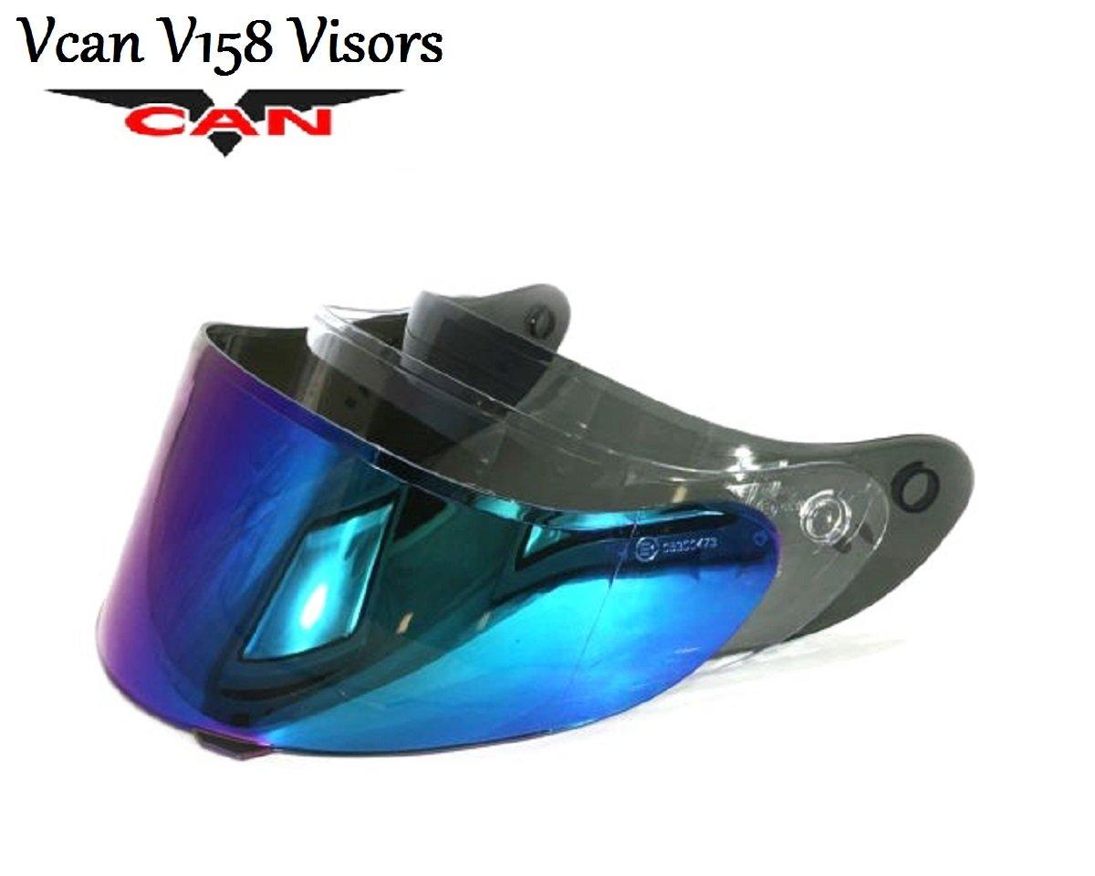 VCAN V158 HELMET VISOR Motorbike Motorcycle Clear, Smoke and Iridium Anti-Scratch Visors (SMOKE VISOR)