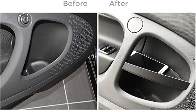 Diyucar Für Benz Smart 453 Fortwo 2015 2019 Autotürgriff Aufbewahrungsbox Behälter Handschuh Organizer Innenzubehör Auto