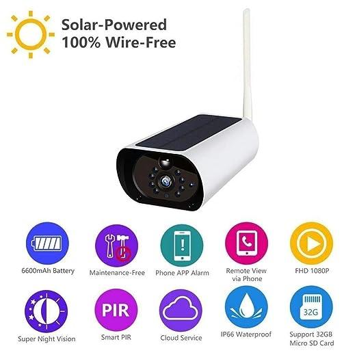Lhcar 1080P al Aire Libre con energía Solar CCTV cámara de ...