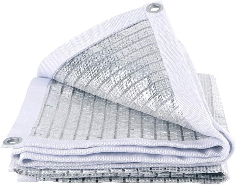 White Reflective Aluminet Shade Cloth Sunblock Shade Net UV Resistant, Premium Garden Shade Mesh Tarp Top Shade Cloth Quality Panel Flowers Plants Patio Lawn Customized
