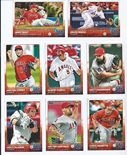 (Los Angeles Angels of Anaheim 2015 Topps MLB Baseball Regular Issue 19 Card Team Set with Mike Trout, Albert Pujols Plus)