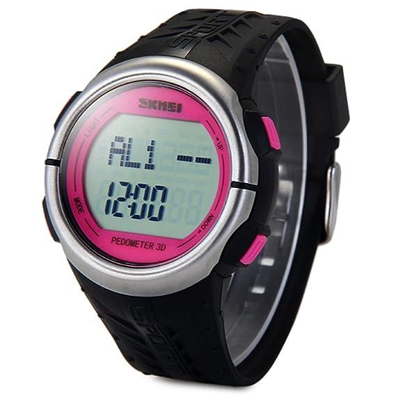 Leopard Shop Skmei 1058 Reloj multifuncional podómetro LED Corazón Tasa de seguimiento de reloj de pulsera