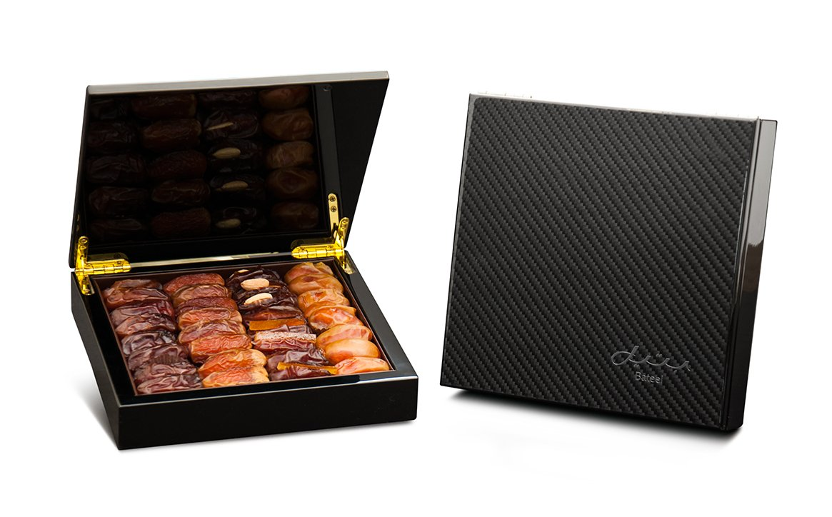 Carbon Fiber Gift Box with Gourmet Stuffed Dates (30 Pieces)
