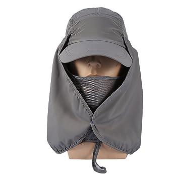 Amazon.com: Solapa de sol Caps Sombreros 360 °, protección ...