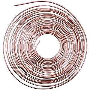 Roll//Coil of 25 ft Zinc Plated 3//16 Brake Line Tubing