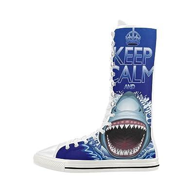 6e909ea6d09 Interestprint shark keep calm print lace up long boots for women jpg  395x395 Keep calm its