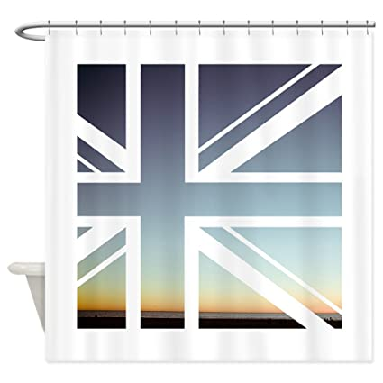 Image Unavailable Not Available For Color CafePress Union Jack Shower Curtain