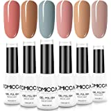 TOMICCA Gel Polish Nail Art Set, 6 Colors Soak Off UV LED Manicure