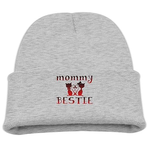 01d808e4 Amazon.com: Rhfjgk Ldjg Mommy is My Bestie Skull Hat Beanie Caps 0-3 ...