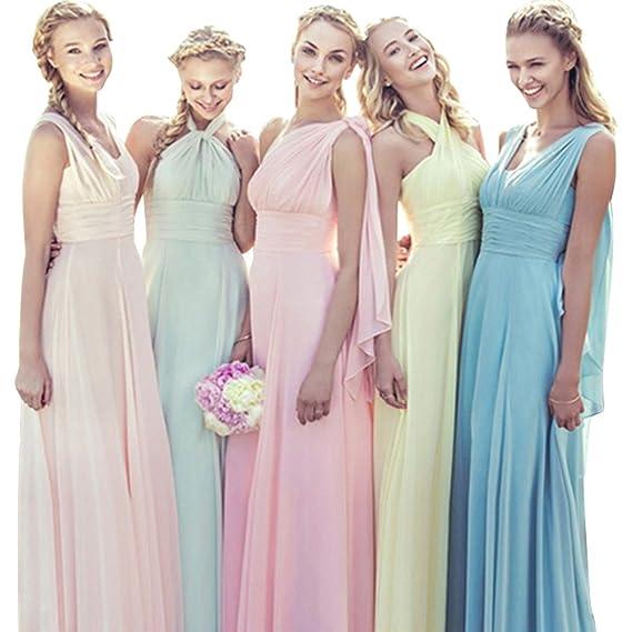 Vickyben Womens Infinity Transformer Convertible Chiffon Long Bridesmaid Dress Prom Dress 2018