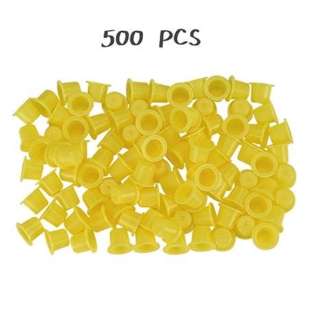 Kinshops 500 Piezas Amarillo/Azul pequeño número Maquillaje ...