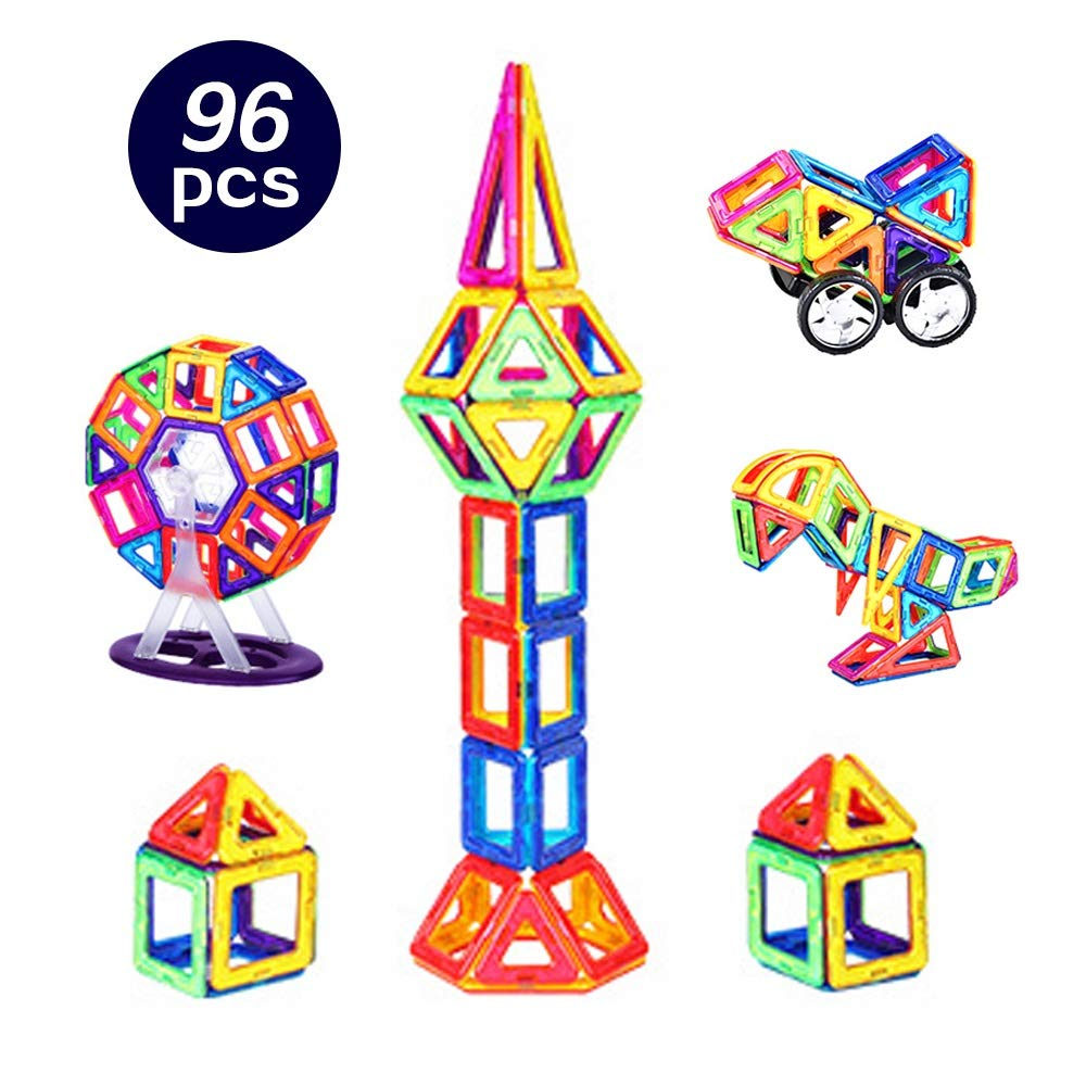 LCLZ Children's Toy Building Blocks Puzzle 3-7 Years Old Early Education DIY Magnetic Piece Building Construction Block Game Suitable for Boys&Girls Creativity Stacking Toy Box Novelty