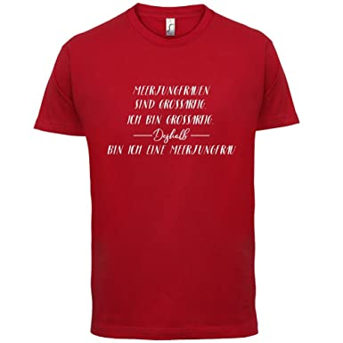 Ich Bin Grossartig - Meerjungfrau - Herren T-Shirt - Rot - XS