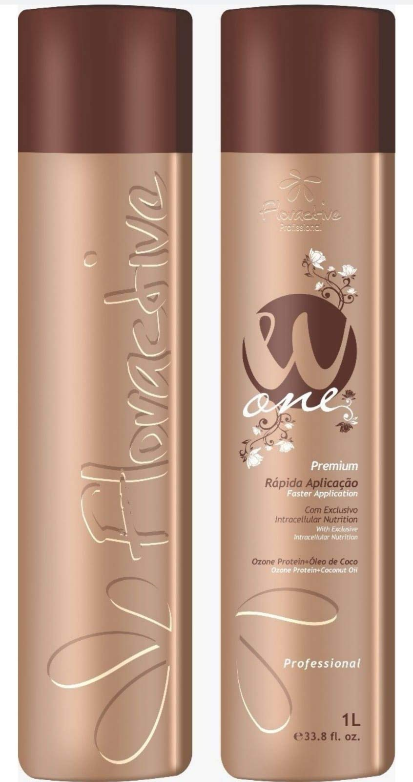 W One Professional Hair Treatment.Ozone Protein + Coconut Oil 1L Fast Acting