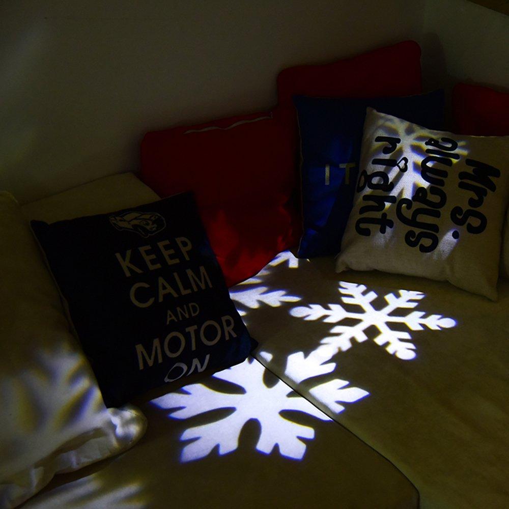 Projecteur LED Mouvement Flocon de Neige Lumineux, YUMOMO Lumiere  Decoration de Projecteur Pere Noel Exterieur Agrandir l image fd7987d4384d