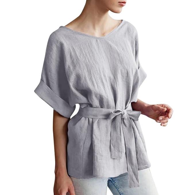 Ears Women\'s 3/4 Sleeve Dressing Casual Kimono V-Ausschnitt ...