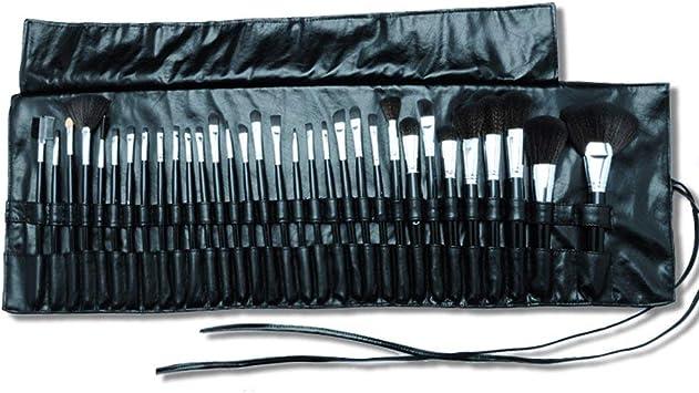 QEES - Estuche para brochas de maquillaje con 32 ranuras, soporte para brochas, estuche impermeable portátil para viaje: Amazon.es: Belleza