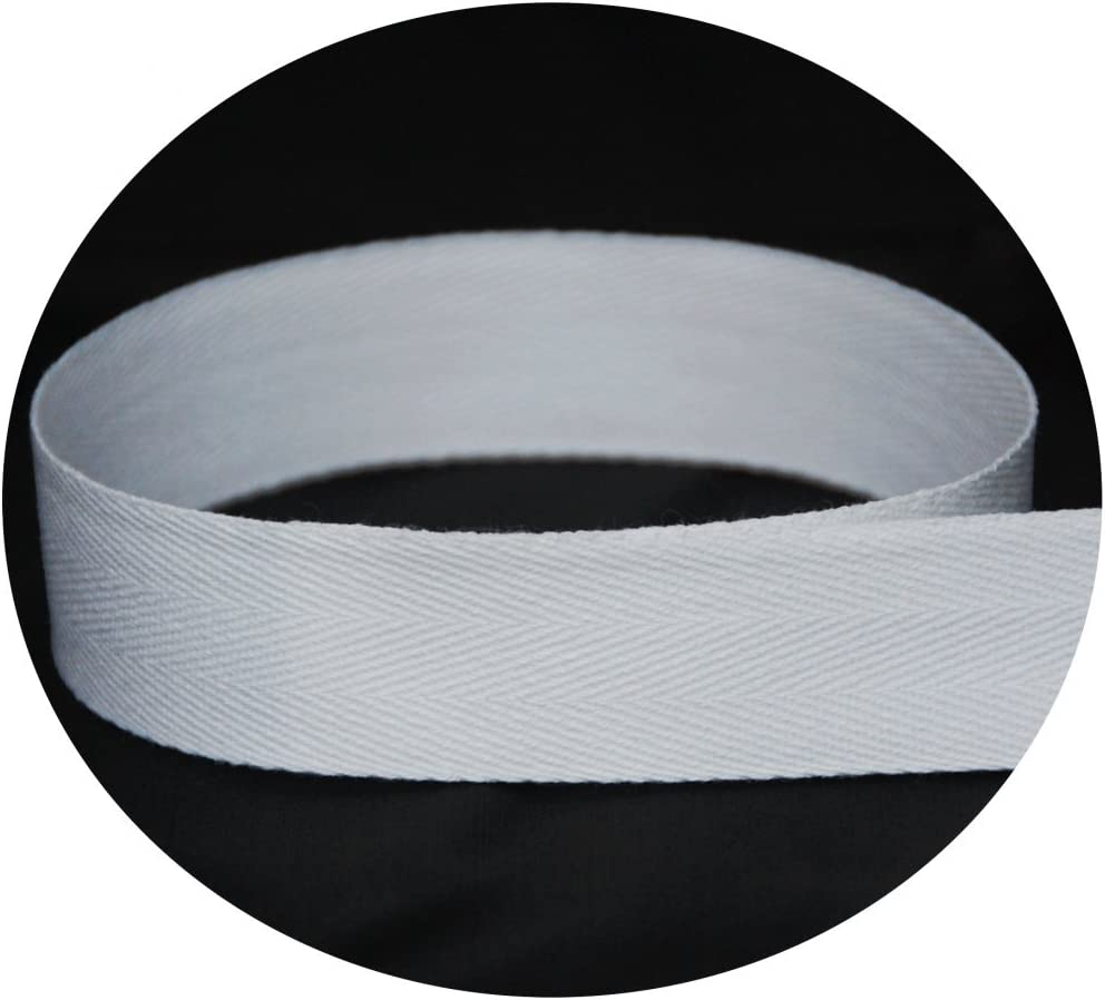 USA Made 5//8 Black Cotton Twill Tape Medium Weight - Multiple Widths /& Yardages Available 144 Yards